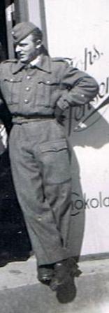 Børge Ginge, der i efteråret 1945 blev indkaldt til militæret