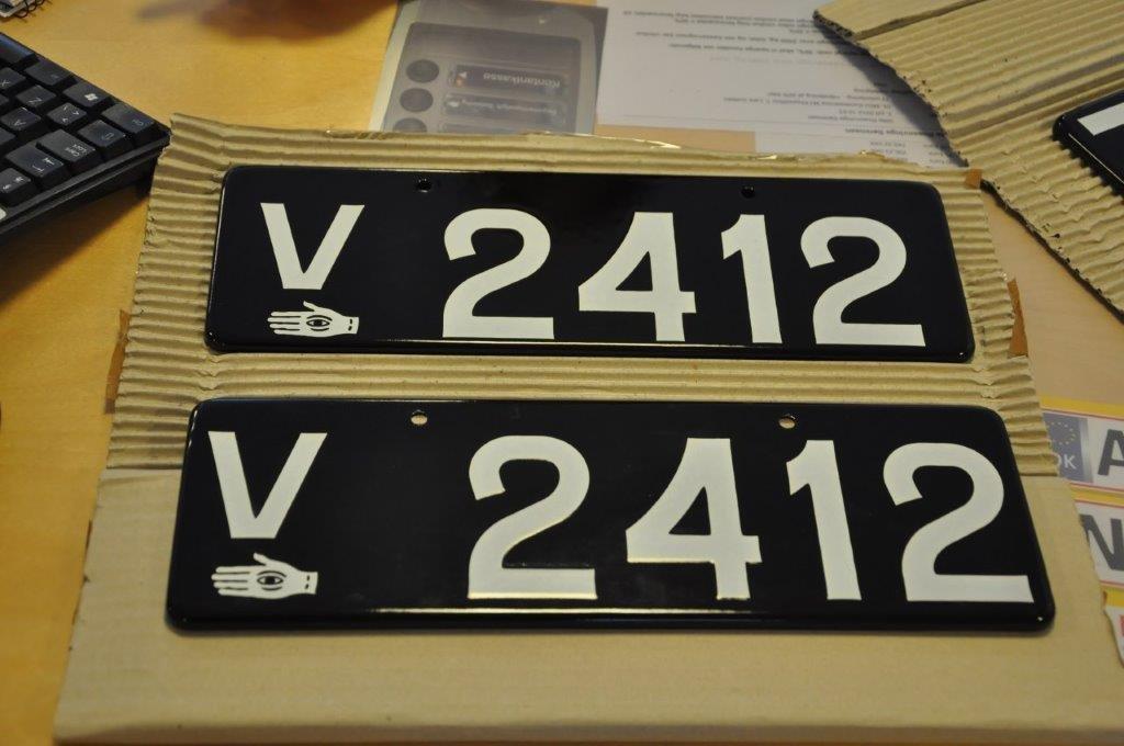 registreringsnummer nummerplade