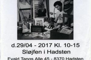 Alt udsolgt til forårets brugt pladebørs i Sløjfen i Hadsten lørdag den 29. april 2017.