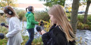 Billedskolen og Musikskolen ude i naturen sammen