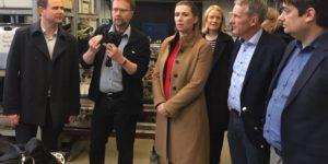 Mette Frederiksen besøgte Den jydske Haandværkerskole