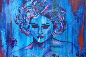 Street art møder klassisk akrylmaleri