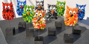 Tina Arnholtz udstiller glaskunst på Hadsten Bibliotek