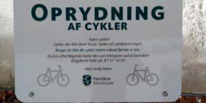 Cykeloprydning i Hadsten og Hinnerup