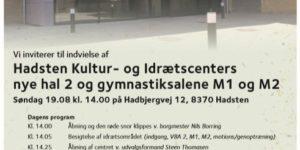 Hadsten Kultur- & Idrætscenter indvies