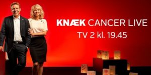 Så er det i aften kl. 19.45, at kulminationen på årets Knæk Cancer finder sted.