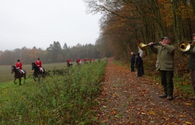 Stort billedgalleri fra årets Hubertusjagt i Bidstrupskovene.