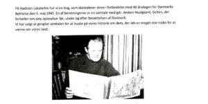 Interview med Anders Huulgaard af elev på Østervangsskolen.