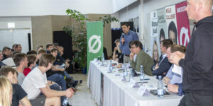 Politisk debat på Den jydske Haandværkerskole