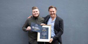 Marc Kaalund fra Grundfør vinder Oluf Brønnums Fonds Talentpris