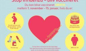 Gratis influenza-vaccine til alle over 65 år