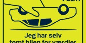 Klistermærke skal forebygge indbrud i biler