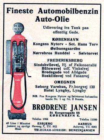 Annonce 1927. Annonce fra Brødrene Jansen.