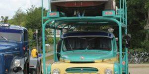 Der var 2-hjulede, 3-hjulede, 4-hjulede og 6-hjulede VETERAN-køretøjer på Lilleåmarkedet i HADSTEN