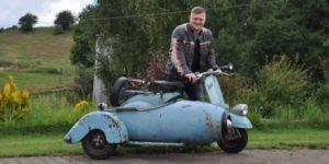 Motorlære i ungdomsskolen i Hadsten lagde grunden til interessen for gamle scootere