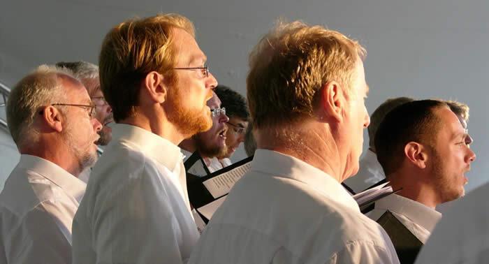 Koncert med Aarhus Studenter-Sangere på Ulstrup Slot.