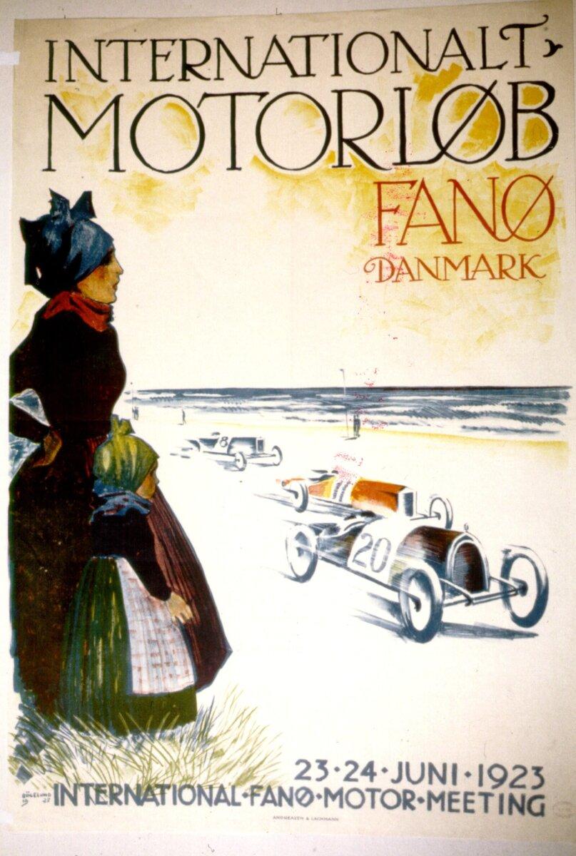 De første motorløb blev kørt på Fanøs sandstrand for netop 100 år siden