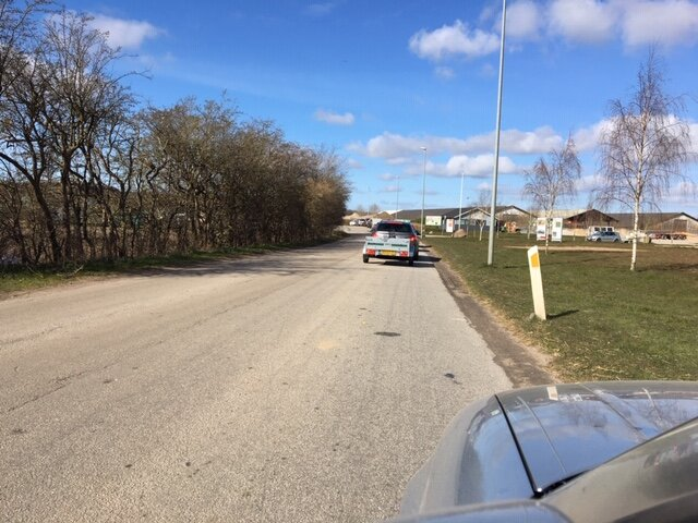 Trængsel på Genbrugspadsen i Hadsten