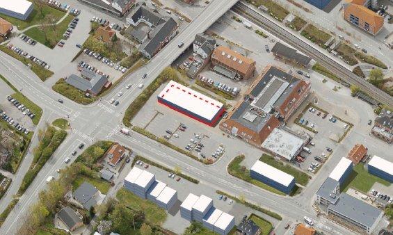 Attraktiv sokkelgrund til dagligvarebutik i udbud på Vesselbjergvej i Hadsten