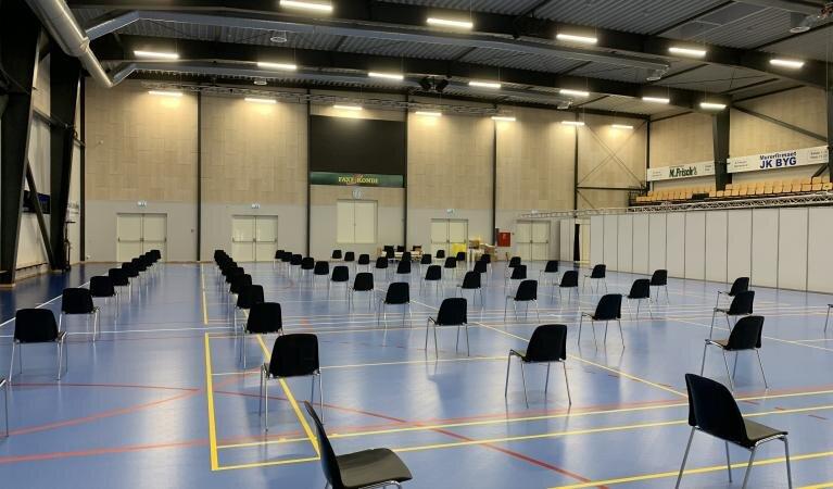 Vaccinationssted i Hammel klar til at åbne i morgen onsdag