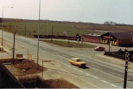 Omkring hovedvejskrydset i Ødum fra år 1899 og frem.