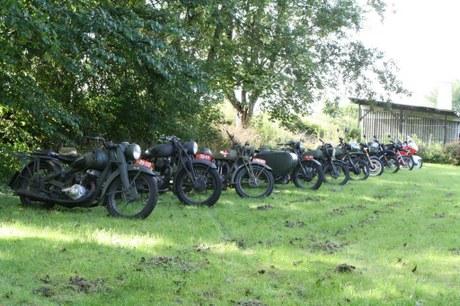 Hærens motorcykler på udstilling på Industrimuseet i Horsens